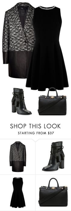 """Sans titre #3512"" by celyana ❤ liked on Polyvore featuring Belstaff, Vince Camuto, Warehouse and Versace"