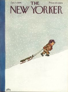 William Steig : Cover art for The New Yorker The New Yorker, New Yorker Covers, Cover Art, Tomer Hanuka, Magazin Covers, Earl Moran, I Love Winter, New Yorker Cartoons, Book Illustration