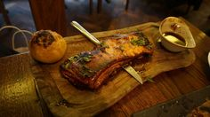 Apple Glazed Smoked Pork Belly at Ember Yard central London, amazing BBQ seafood and meat! A must try for BBQ fans! Click through for more photos and a full review!