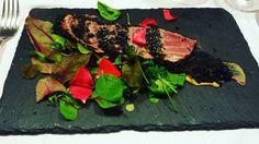 Tataki di tonno pinna gialla con sesamo nero e germogli di fiore. #milan #milano #food #foodporn #foodie #foodgasm #foodlover #italia #italy #tataki #tuna by jacopogiaretti