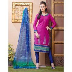 Ethnic Wear Readymade Pink Salwar Suit - 79786
