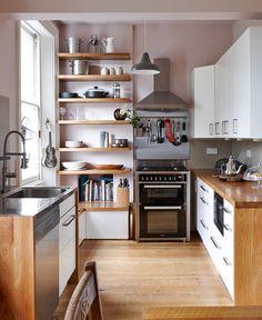 arredare-cucina-mobili-legno-lavandino-vintage-decorazioni-parete ...