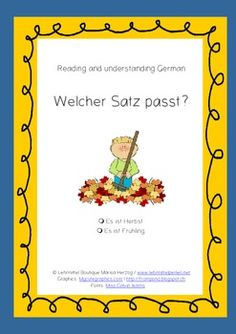 Sale 20%: Are you a German language teacher? This fun activity can be used as a time filler in various classes and grades: Students read and decide, which of the two sentences matches to the picture.