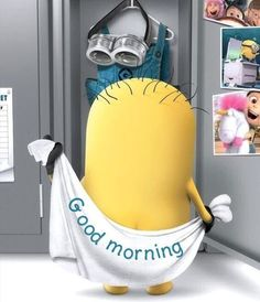 Looking for for images for good morning motivation?Browse around this site for unique good morning motivation inspiration. These funny images will brighten your day. Good Morning Minions, Good Morning Quotes For Him, Good Morning Texts, Good Morning Love, Good Morning Messages, Morning Humor, Funny Morning Quotes, Funny Quotes, Goog Morning