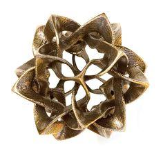 Metal icosahedron sculpture: Metal Sculpture by Vladimir Bulatov