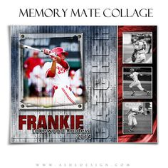 SPORTS Memory Mate Collage Set  RIVETED  2  8x10 by ashedesign