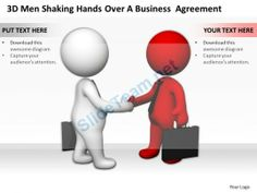 3D Men Shaking Hands Over a Business Agreement Ppt Graphics Icons Powerpoint #Powerpoint #Templates #Infographics