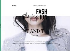 An exciting combination of fonts and photography, giving a clean and contemporary result.   http://playingfashion.com/