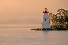 Kidston Island Lighthouse in Baddeck, Nova Scotia, Canada Annapolis Royal, Atlantic Canada, Cape Breton, Prince Edward Island, New Brunswick, Nova Scotia, Wonderful Places, East Coast, Places To See