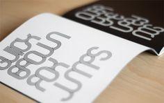 Dash Typeface by Hikmet Guler, via Behance