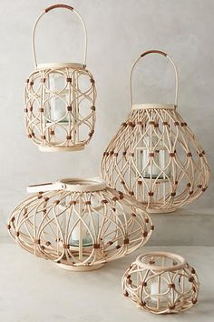 Leather-Wrapped Lantern - anthropologie.com