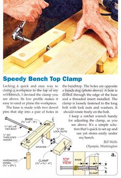 Speedy Bench Top Clamp - Workshop Solutions Projects, Tips and Tricks | WoodArchivist.com