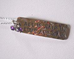 #AllisFairinLoveandWar #925Silver #SterlingSilver #Amethyst #Necklace by LOTUS #Lotus #Pendant