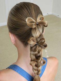 Easy Triple Flower Braid / Back to School / Bonita Hair Do