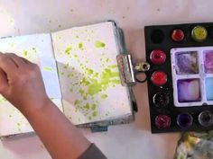 weekly art journaling video series  http://donnadowney.typepad.com/simply_me/inspiration-wednesdays/3/21/13