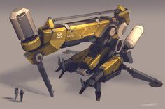 #concept #tech #machinery | - Drilling machine | ... QR Drill Unit 01 by http://talros.deviantart.com on @deviantart