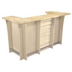 Meuble-comptoir de bar BLOW XXL érable (vue de 3/4 avant) 1399 € Outdoor Furniture, Outdoor Decor, Outdoor Storage, Cabinet, Mini Bars, Home Decor, Gray, Store Counter, Bar Counter