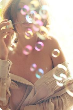 bubbles!!!!---awwww I want a photo like this one! without the semi nudity