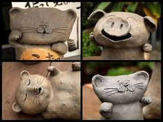 Hand Built Pottery Ideas | Tokoname Pottery Animals I | Hand built pottery ideas