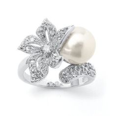 Mariell Pearl and CZ ring. Some of my wedding/rehearsal dinner jewelry.