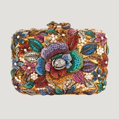 Flower Couture Clutch Bag Clear