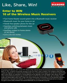 Enter to Win 10 of Wireless Music Receivers | All kinds of Giveaways in one place! Daily Updating! Why bother wasting your time?