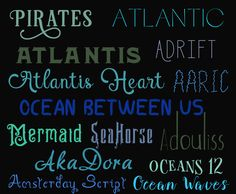 I design a lot, I mean being from Florida I have no shortage of ocean themed request, so I put together this nautical list of  15 Ocean Inspired Fonts. Whether you're making sea inspired logos or just need a summer font, this unique free font bundle is sure to turn heads.    If you liked this type