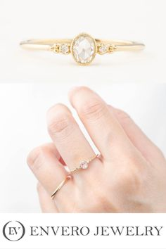 Designed and created by Enveor Jewelry Wedding Engagement, Wedding Rings, Unique Diamond Engagement Rings, Rose Cut Diamond, Handmade Jewelry, Band, Metal, Sash, Single Diamond Engagement Rings