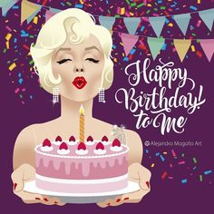 Best Birthday Quotes Funny Its My 52 Ideas Happy Birthday Artist, Happy Birthday To Me Quotes, Happy Birthday Video, Birthday Girl Quotes, Happy Birthday Messages, Happy Birthday Images, Marilyn Monroe Birthday, Its My Birthday Month, 25th Birthday