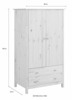 kinder kleiderschrank massivholz madita gro von pinolino 142x59x190cm kinderzimmer. Black Bedroom Furniture Sets. Home Design Ideas