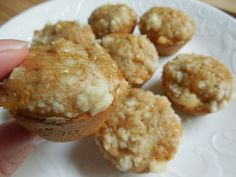 Weight watcher recipes, 1 smart point Mini apple crumble muffins by drizzle me skinny