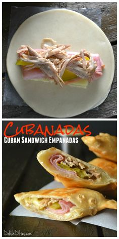 How do you make a Cuban sandwich even more delicious than it already is? Fry them into Cubanadas (Cuban sandwich empanadas)! Sandwich Cubano, Cuban Sandwich, Pork Recipes, Mexican Food Recipes, Cooking Recipes, Recipies, Ideas Sándwich, Charcuterie, Cuban Dishes