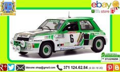 Solido 1:18 Renault R5 Turbo 1985 Rally #6 Modellino Diecast Serpaggi-Legal