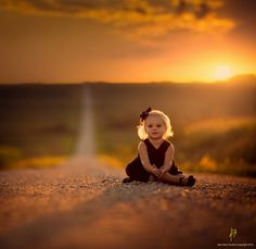 Last Second of The Sun by Jake Olson - Children Photography by Jake Olson