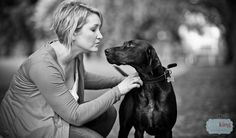 Pointer Dog and Owner Portrait Photography