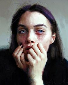 Ivana Besevic Captures Raw Emotion in Vulnerable Portraits Painting People, Figure Painting, Painting Of Girl, Digital Portrait, Portrait Art, Painting Portraits, Photographie Portrait Inspiration, Cindy Sherman, Arte Sketchbook