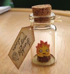New Bottle Calcifer Flame Fire Spirit Howl's Moving Castle Studio Ghibli Gift | eBay