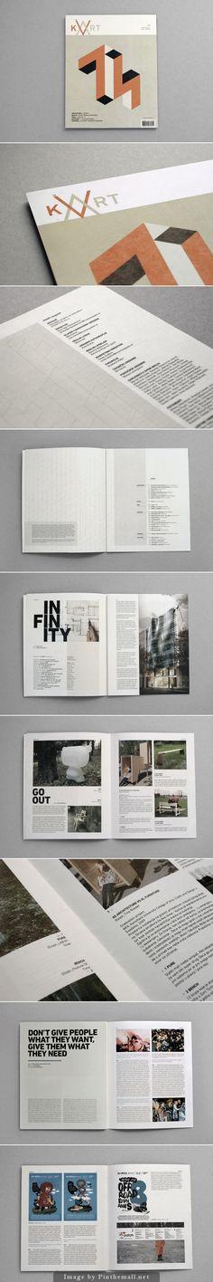 Layout // Magazine // Grid System // KVART magazine