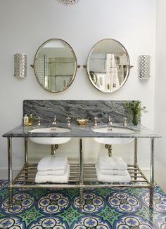 #Drummonds #tiles #Mediterranean #marble #vanity #basin #mirrors #brass #crake