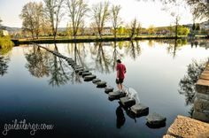 The Stepping Stone Bridge In Chaves, Portugal   by Gail at Large