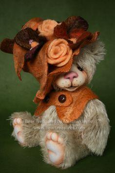 Mohair artist teddy bear designed and created by Melanie Jayne of Bear Treasures