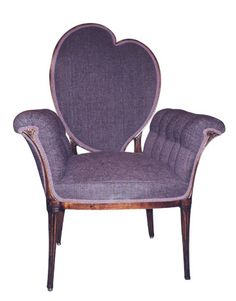 Art Deco Side Chair, c. I adore most Art Deco and I love purple.This Chair! Art Deco Furniture, Funky Furniture, Unique Furniture, Arte Art Deco, Estilo Art Deco, Style At Home, Antique Appraisal, Love Chair, Antique Chairs