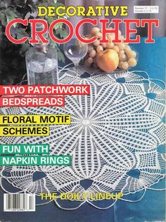 Crochet Patterns Decorative Crochet Magazine 17 September 1990 Vintage Paper Original, NOT a PDF by elanknits on Etsy Filet Crochet, Crochet Cross, Crochet Chart, Crochet Home, Thread Crochet, Irish Crochet, Knit Crochet, Crochet Diagram, Crochet Doily Patterns