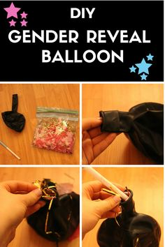 A poppedconfetti filled balloon is such a fun way to reveal the gender of your baby! Here is a tutorial on how to make your own instead of purcha