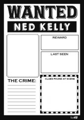 Ned Kelly - Wanted Poster Teacher Resources, Teaching Ideas, Kelly's Heroes, Ned Kelly, Classroom Games, Australian Curriculum, Activity Games, Lesson Plans, Worksheets