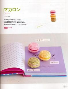 Crocheted Macarons - FREE Amigurumi Crochet Pattern / Tutorial (click on right arrow to get to free chart)