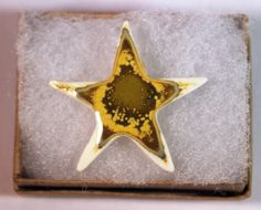 Crystal Crystalline Glaze on Porcelain Star Pin - $15.00
