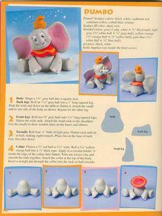 Dumbo tutorial cake topper - part 1