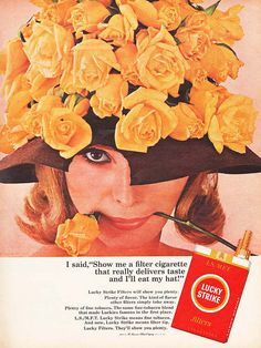 I'll Eat My Hat ! on Flickr.  Lucky Strike Cigarette Ad 1966