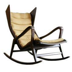 Rocking Chair by Gio Ponti for Cassina | From a unique collection of antique and modern rocking chairs at http://www.1stdibs.com/furniture/seating/rocking-chairs/